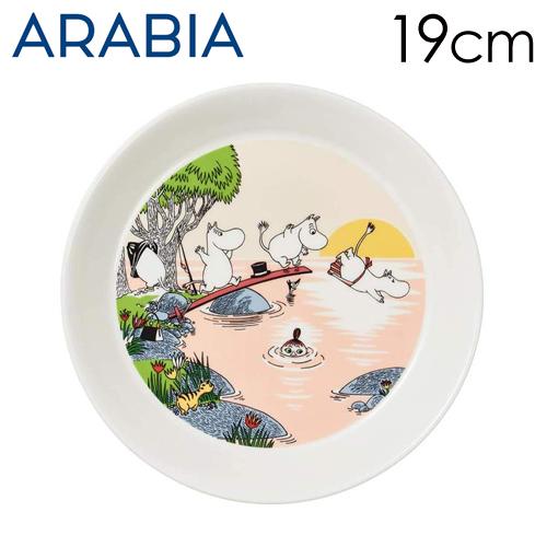 Arabia Moomin ムーミン プレート イブニングスウィム Evening swim 19cm 2019年夏季限定