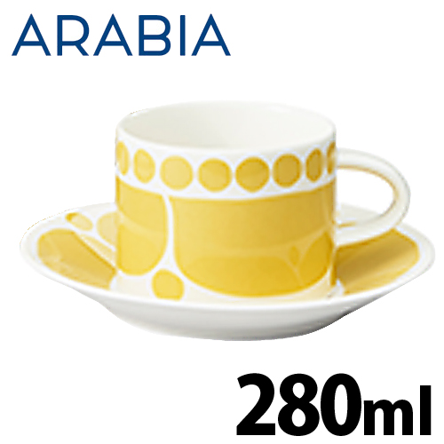 ARABIA アラビア Sunnuntai スンヌンタイ ティーカップ&ソーサー セット 280ml