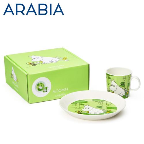 ARABIA アラビア Moomin ムーミン プレート&マグ ムーミントロール Moomintroll green