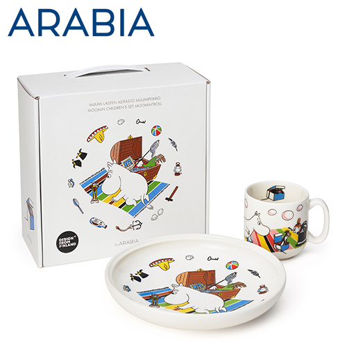 ARABIA アラビア Moomin ムーミン チルドレンセット プレート&マグ ムーミントロール Moomintroll