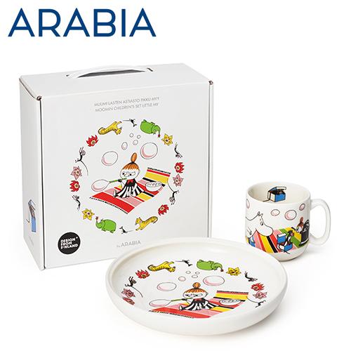 ARABIA アラビア Moomin ムーミン チルドレンセット プレート&マグ ちびのミイ Little My