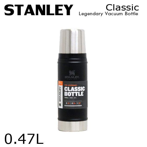 STANLEY スタンレー Classic Legendary Vacuum Bottle クラシック 真空ボトル マットブラック 0.47L 16oz