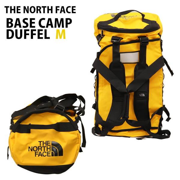THE NORTH FACE バックパック BASE CAMP DUFFEL M ベースキャンプ ダッフル 71L サミットゴールド×TNFブラック