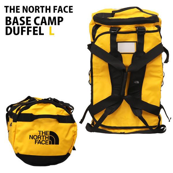 THE NORTH FACE バックパック BASE CAMP DUFFEL L ベースキャンプ ダッフル 95L サミットゴールド×TNFブラック