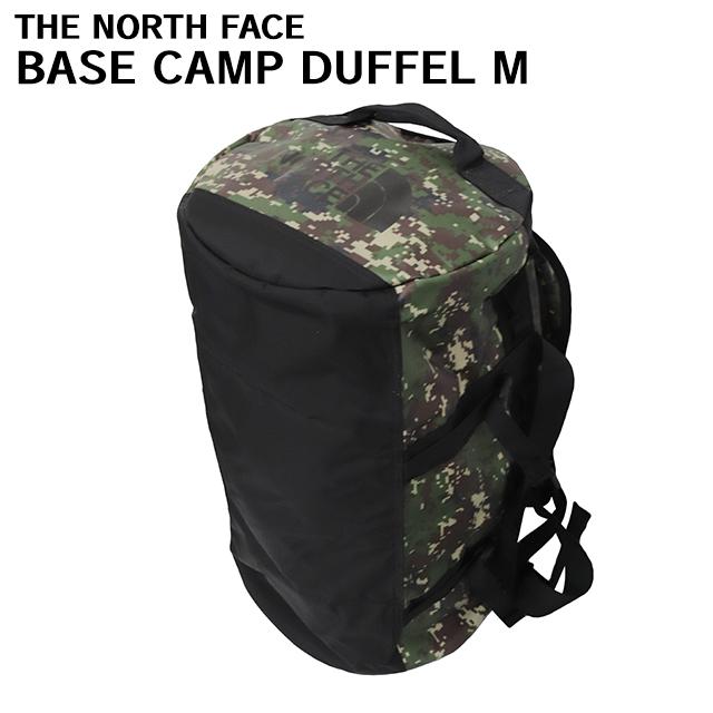 THE NORTH FACE バックパック BASE CAMP DUFFEL M ベースキャンプ ダッフル 71L ブラントオリーブグリーンデジカモ×TNFブラック