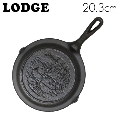 LODGE ロジック スキレット 8インチ ダックロゴ CAST IRON SKILLET WITH DUCK LOGO L5SKWLDK