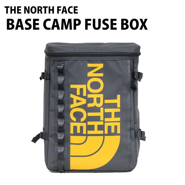 THE NORTH FACE バックパック BASE CAMP FUSE BOX ベースキャンプ ヒューズボックス 30L アスファルトグレー×サミットゴールド