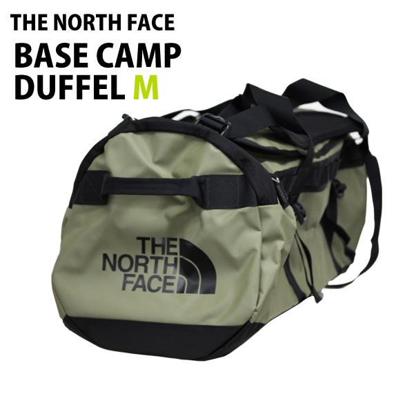 THE NORTH FACE ダッフルバッグ BASE CAMP DUFFEL M ベースキャンプ ダッフル M 71L バーントオリーブグリーン×TNFブラック バックパック ボストンバッグ