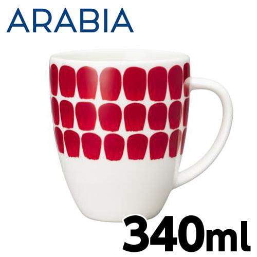 ARABIA アラビア 24h Tuokio トゥオキオ レッド マグ マグカップ 340ml