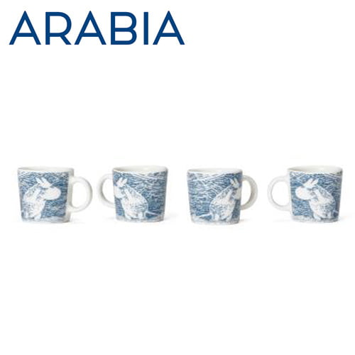 ARABIA アラビア Moomin ムーミン ミニマグ オーナメント スノーブリザード 4個セット Snow Blizzard 2020年冬季限定