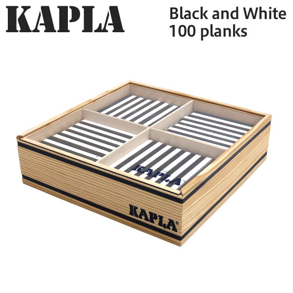 KAPLA カプラ Black and White 100 planks ブラック&ホワイト 100ピース