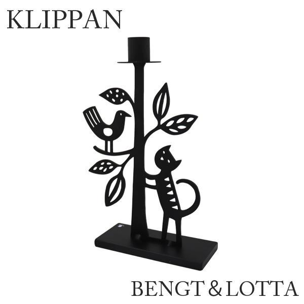 KLIPPAN クリッパン BENGT&LOTTA ベングト&ロッタ キャンドルホルダー The cat and the tree Black