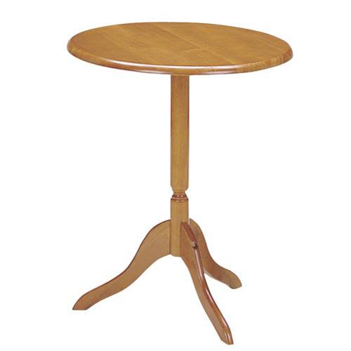 弘益 木製 ラウンジテーブル ブラウン φ600×H730mm