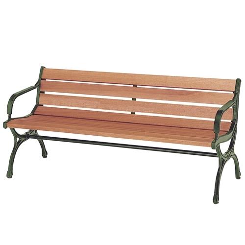 弘益 ベンチ ウッドベンチ 肘有り 天然木 天然木 ブラウン
