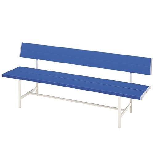 弘益 ベンチ カラーベンチ(背付) W1500mm ブルー