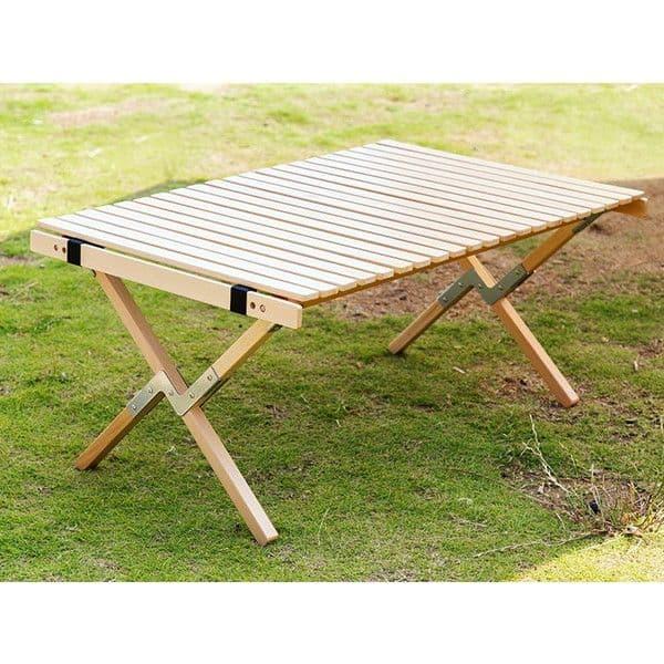ロールトップテーブル Wood 9060 W900×D600×H410mm