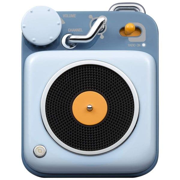 MUZEN Bluetoothスピーカー ボタン スカイブルー