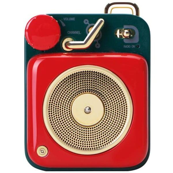 MUZEN Bluetoothスピーカー ボタン チェリーレッド