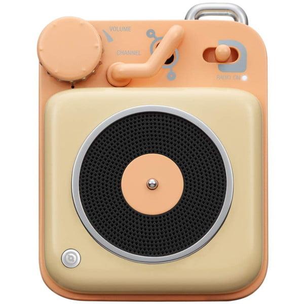 MUZEN Bluetoothスピーカー ボタン クリームイエロー