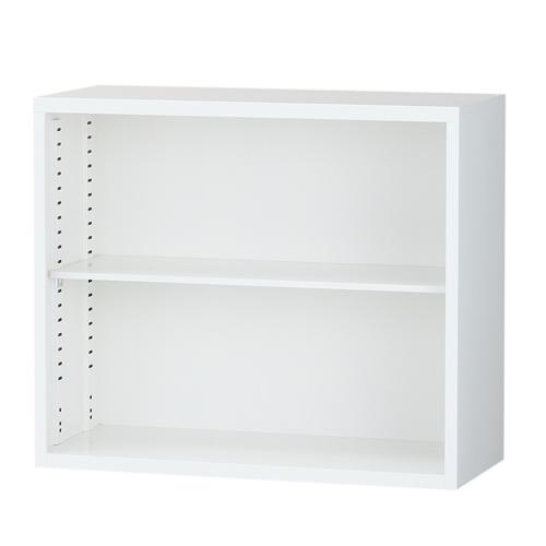 生興 スチール書庫 オープン書庫 A4対応 H750mm ホワイト ALZ-K32