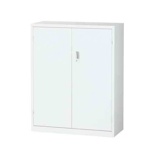 生興 スチール書庫 両開き書庫 A4対応 H1110mm ホワイト ALZ-H34