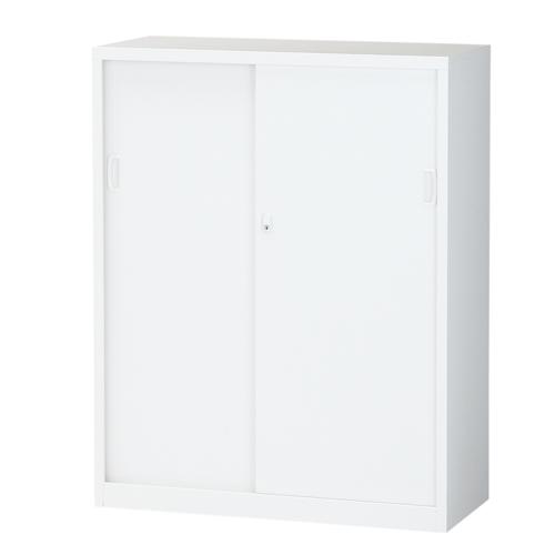 生興 スチール書庫 引戸書庫 A4対応 H1110mm ホワイト ALZ-S34