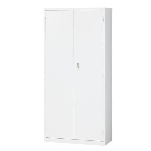 生興 スチール書庫 両開き書庫 A4対応 H1860mm ホワイト ALZ-H36