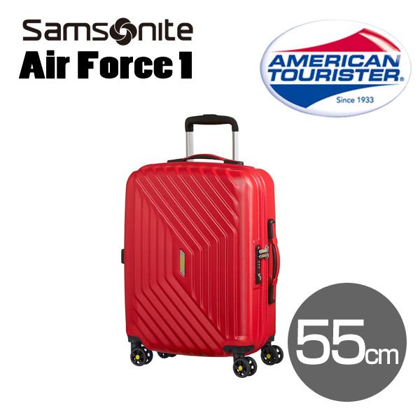 Samsonite スーツケース American Tourister AIR FORCE1 アメリカンツーリスター エアフォースワン 55cm フレームレッド 74401-0501/18G-001