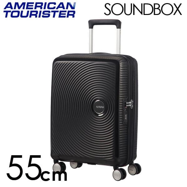 Samsonite スーツケース American Tourister Soundbox アメリカンツーリスター サウンドボックス EXP 55cm バスブラック 88472-1027/32G-001