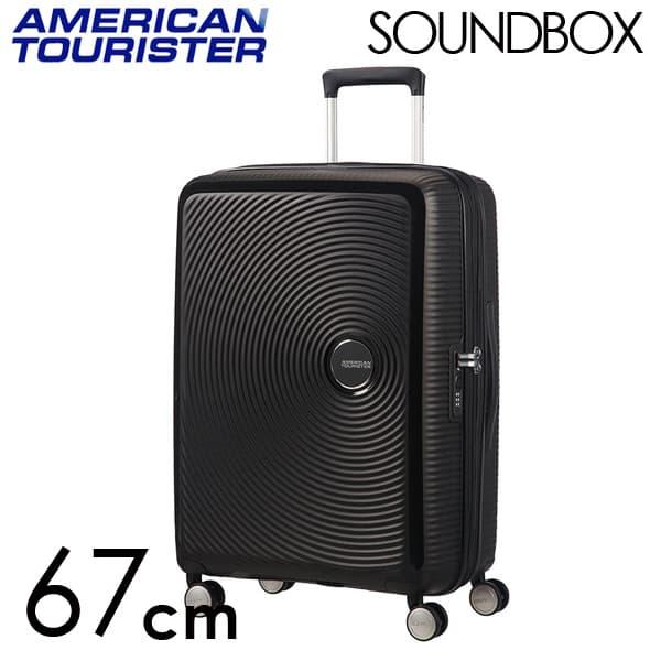 Samsonite スーツケース American Tourister Soundbox アメリカンツーリスター サウンドボックス EXP 67cm バスブラック 88473-1027/32G-002