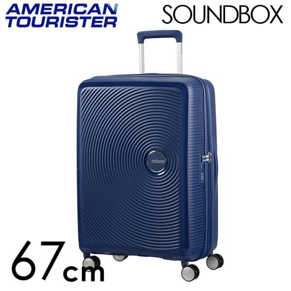 Samsonite スーツケース American Tourister Soundbox アメリカンツーリスター サウンドボックス EXP 67cm ミッドナイトネイビー 88473-1552/32G-002