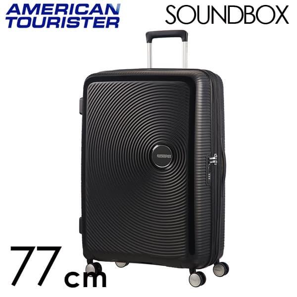 Samsonite スーツケース American Tourister Soundbox アメリカンツーリスター サウンドボックス EXP 77cm バスブラック 88474-1027/32G-003【他商品と同時購入不可】