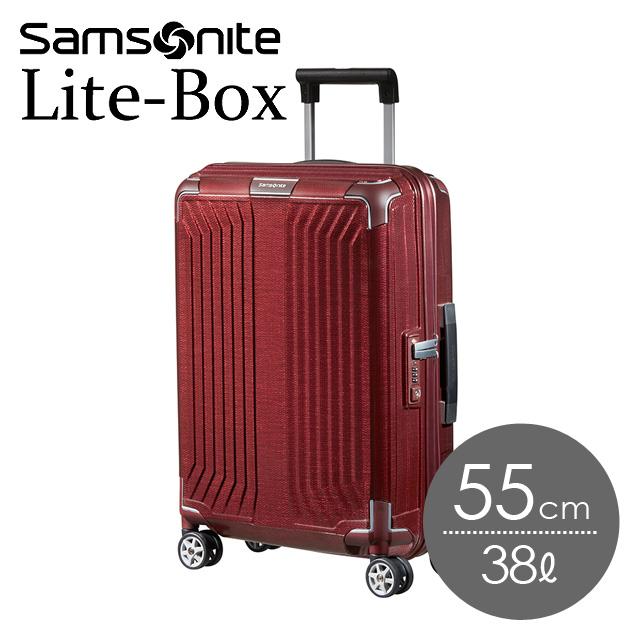 サムソナイト ライトボックス 55cm ディープレッド Lite-Box 79297-1285