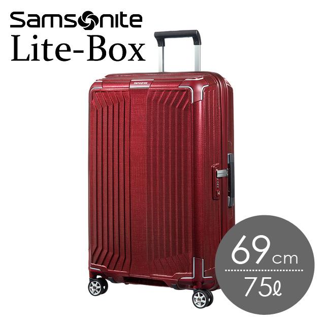 サムソナイト ライトボックス 69cm ディープレッド Lite-Box 79299-1285