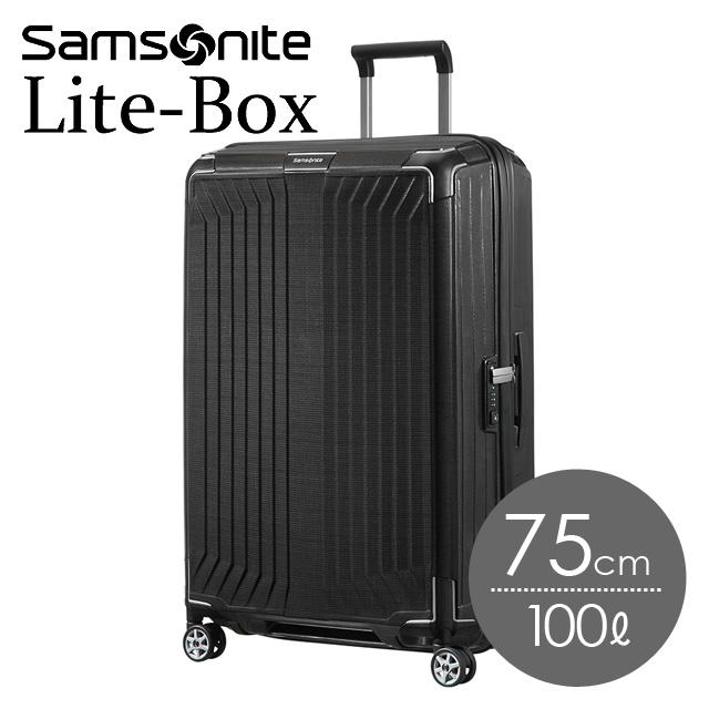 9862f91b04 サムソナイト ライトボックス 75cm ブラック Lite-Box 79300-1041