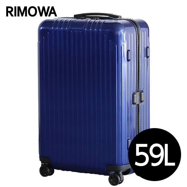 リモワ RIMOWA スーツケース エッセンシャル ライト チェックインM 59L グロスブルー ESSENTIAL Check-In M 823.63.60.4