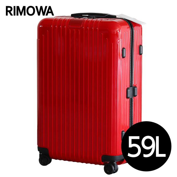 リモワ RIMOWA スーツケース エッセンシャル ライト チェックインM 59L グロスレッド ESSENTIAL Check-In M 823.63.65.4