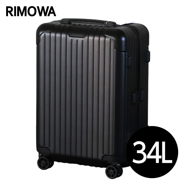 RIMOWA スーツケース エッセンシャル キャビンS 34L マットブラック ESSENTIAL Cabin S 832.52.63.4