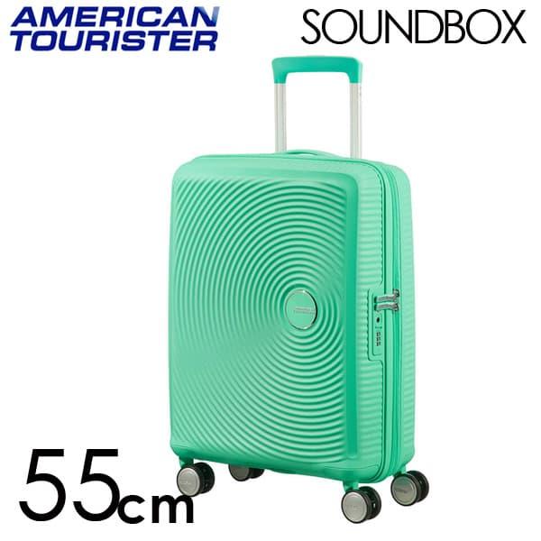 Samsonite スーツケース American Tourister Soundbox アメリカンツーリスター サウンドボックス EXP 55cm ディープミント 88472-2535