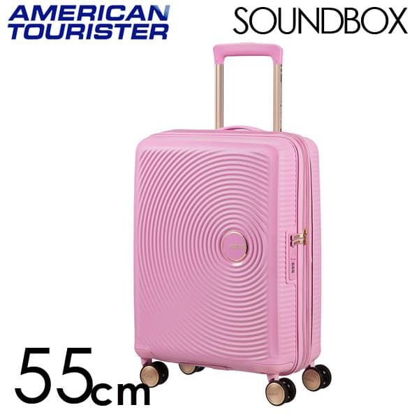 Samsonite スーツケース American Tourister Soundbox アメリカンツーリスター サウンドボックス EXP 55cm パールピンク/ゴールド 88472-7742