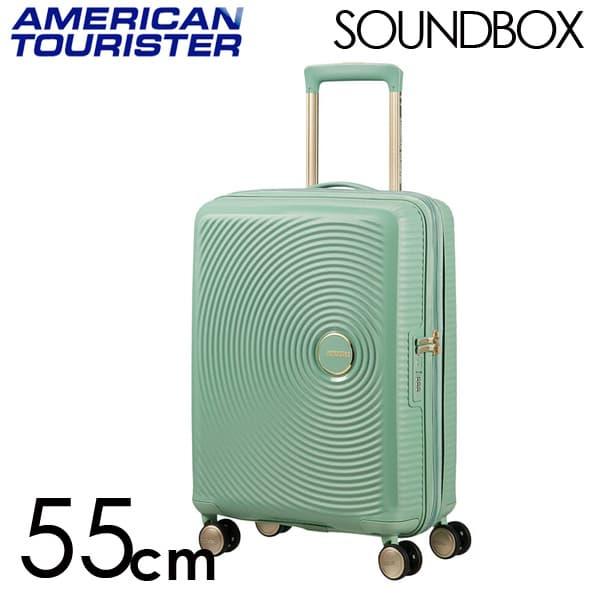 Samsonite スーツケース American Tourister Soundbox アメリカンツーリスター サウンドボックス EXP 55cm アーモンドグリーン/ゴールド 88472-7743