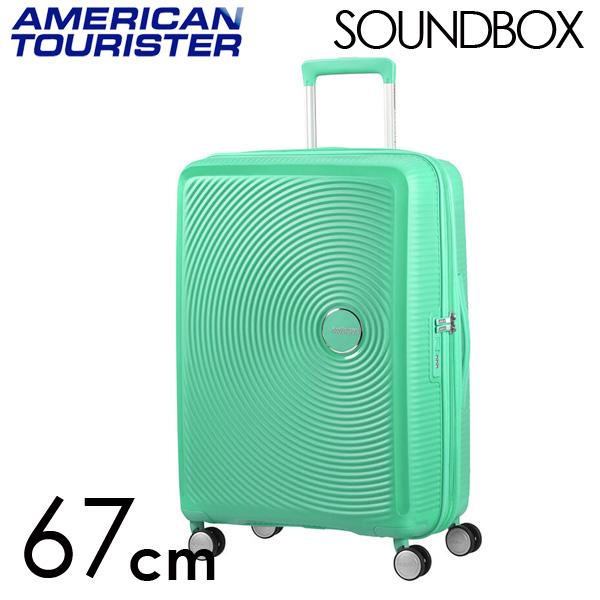 Samsonite スーツケース American Tourister Soundbox アメリカンツーリスター サウンドボックス EXP 67cm ディープミント 88473-2535
