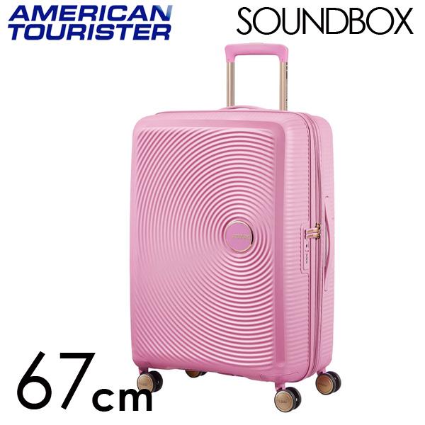 Samsonite スーツケース American Tourister Soundbox アメリカンツーリスター サウンドボックス EXP 67cm パールピンク/ゴールド 88473-7742