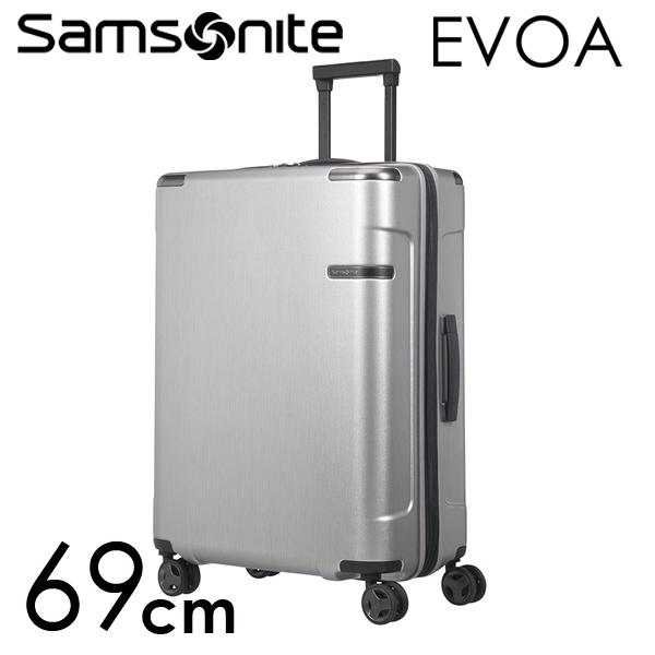 Samsonite スーツケース Evoa エヴォア EXP 69cm ブラッシュドシルバー 111415-2848