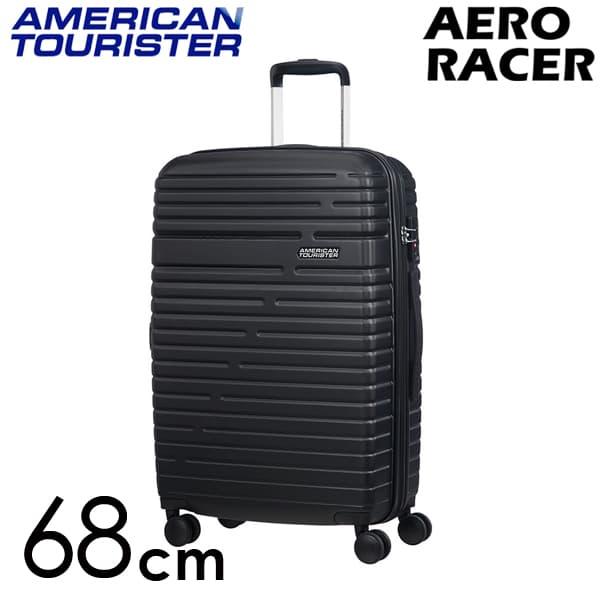 Samsonite スーツケース American Tourister Aero Racer アメリカンツーリスター エアロレーサー EXP 68cm ジェットブラック 116989-1465