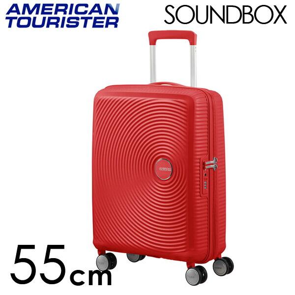 Samsonite スーツケース American Tourister Soundbox アメリカンツーリスター サウンドボックス EXP 55cm コーラルレッド 88472-1226