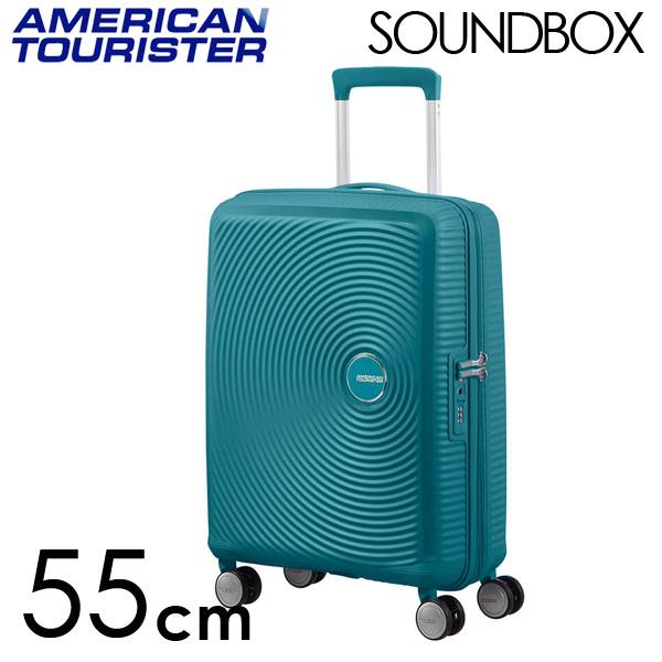 Samsonite スーツケース American Tourister Soundbox アメリカンツーリスター サウンドボックス EXP 55cm ジェイドグリーン 88472-1457