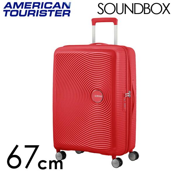 Samsonite スーツケース American Tourister Soundbox アメリカンツーリスター サウンドボックス EXP 67cm コーラルレッド 88473-1226