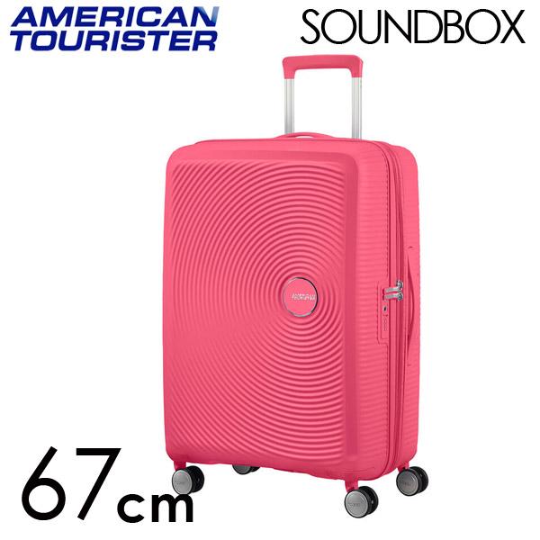 Samsonite スーツケース American Tourister Soundbox アメリカンツーリスター サウンドボックス EXP 67cm ホットピンク 84473-1426