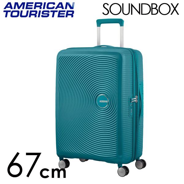Samsonite スーツケース American Tourister Soundbox アメリカンツーリスター サウンドボックス EXP 67cm ジェイドグリーン 84473-1457